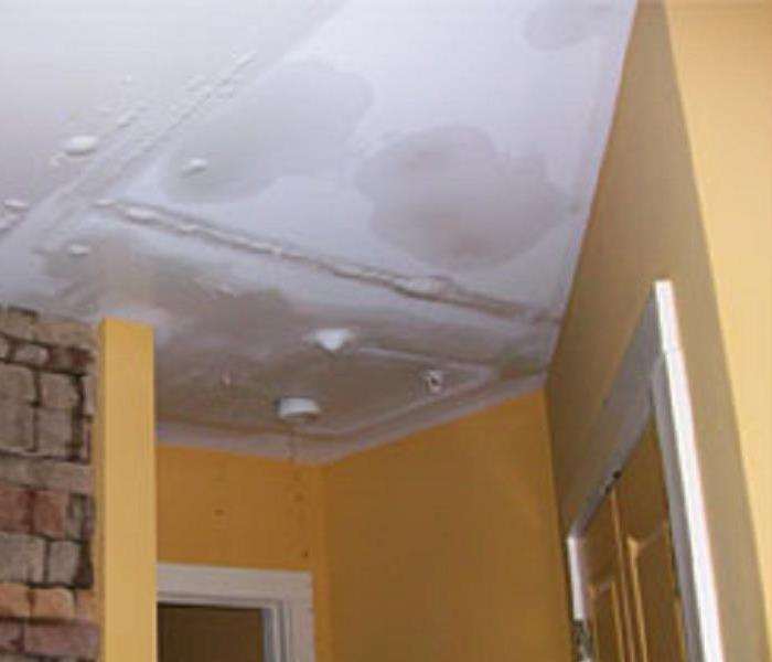 Water Damage In Ceiling Before