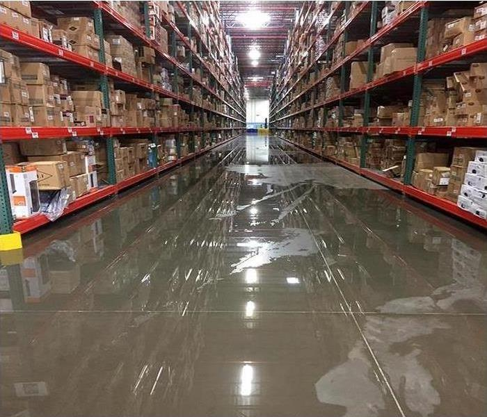 Flood at a warehouse
