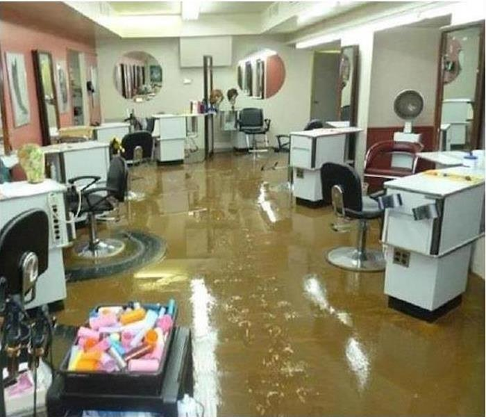 Flood at a hair salon