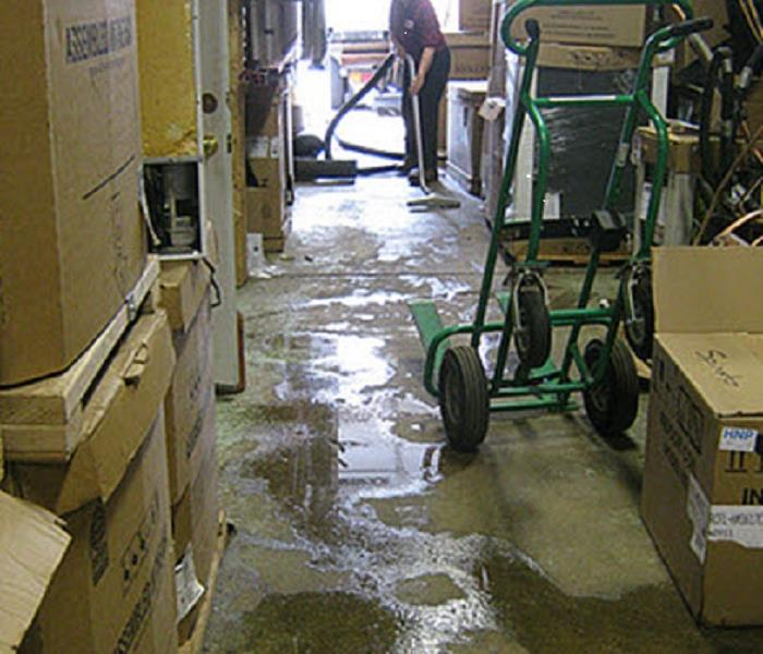 Flooding in a warehouse