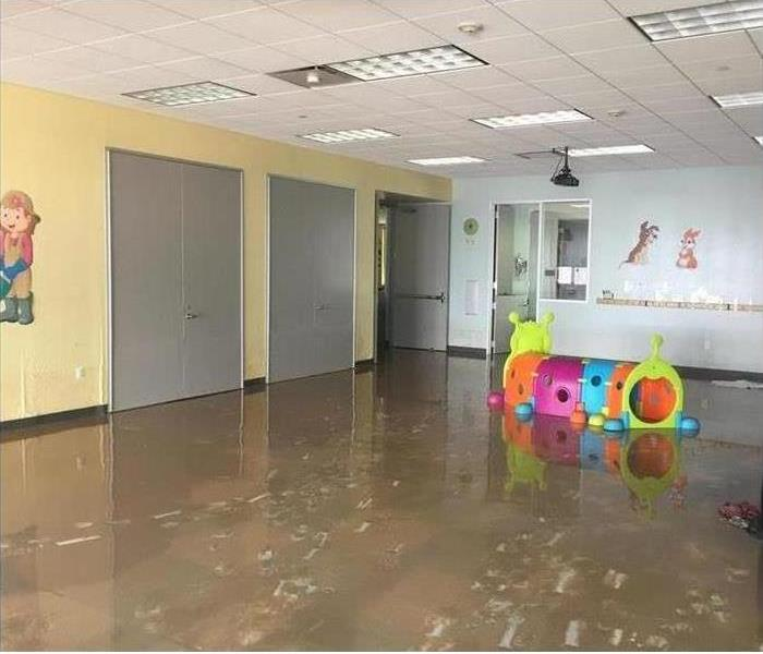Daycare with a flooded room